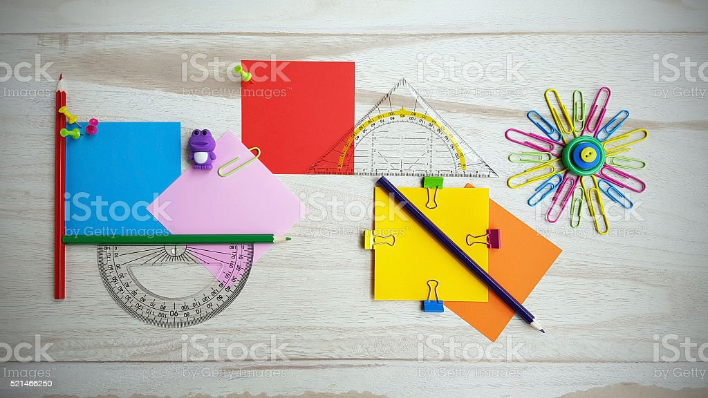Stationery still life stock photo
