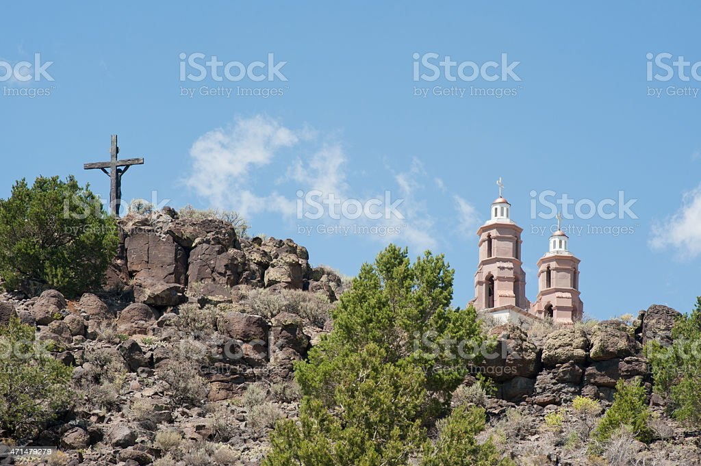 Stations of the Cross Shrine and Calvary stock photo