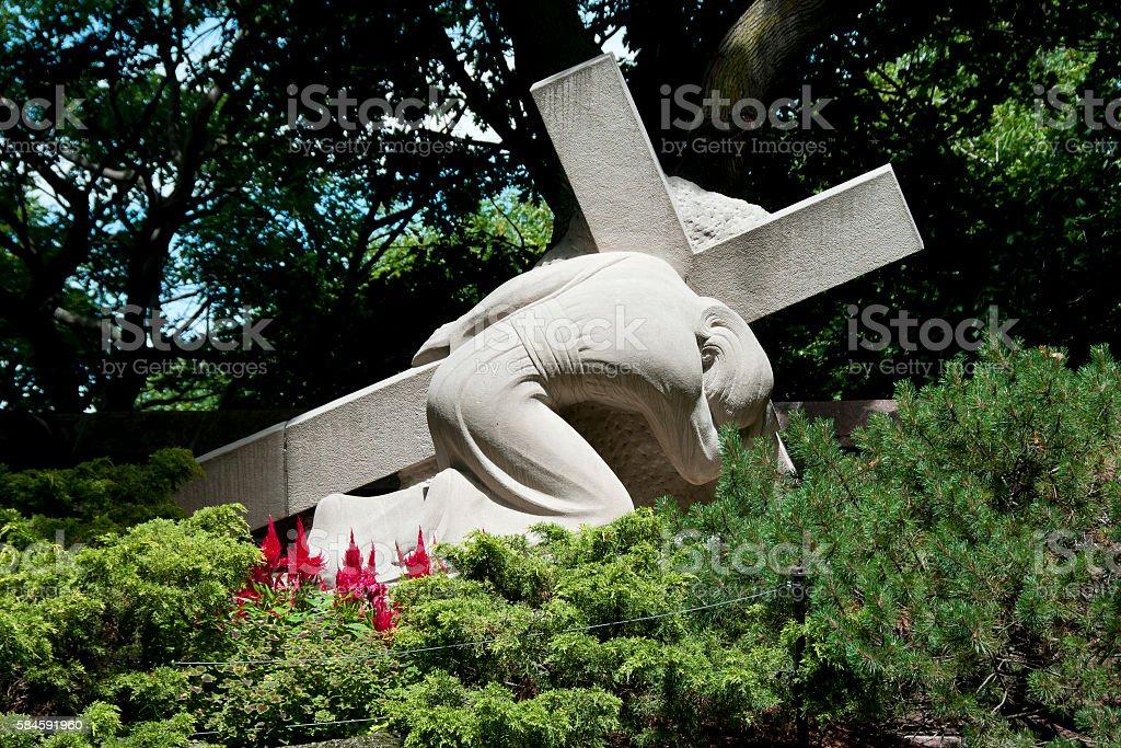 Stations of the Cross - St Joseph Oratory - Montreal stock photo