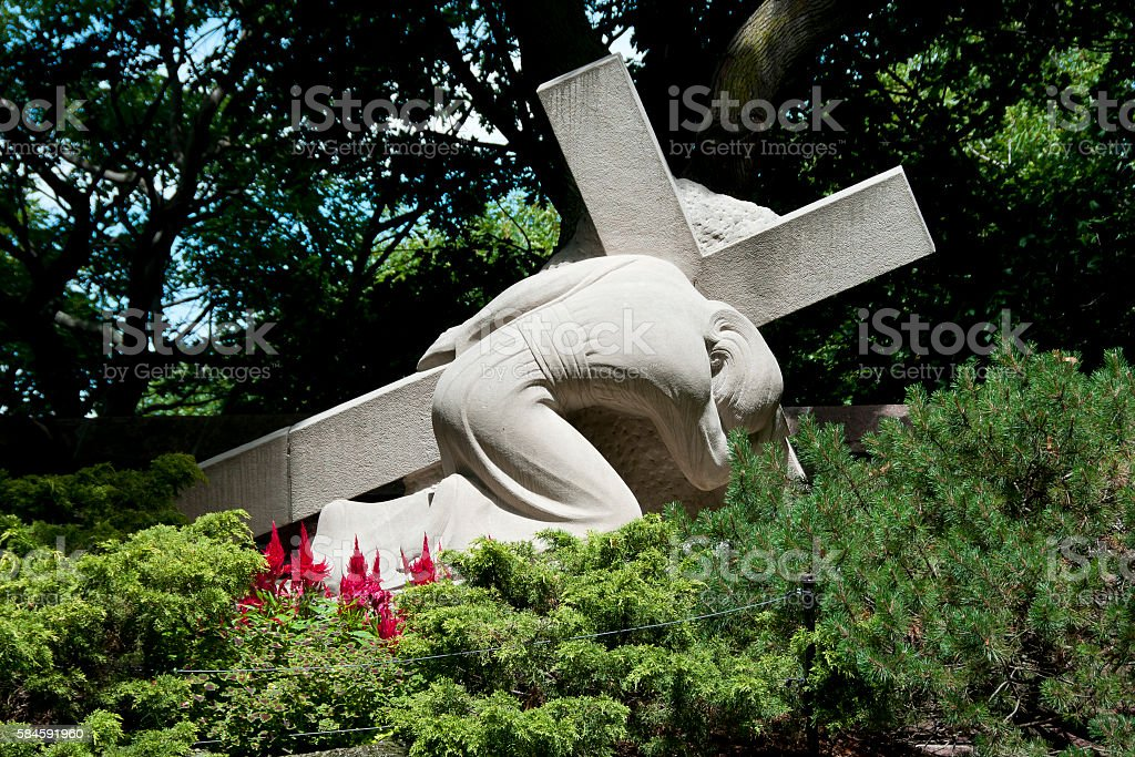 Stations of the Cross - St Joseph Oratory - Montreal stock photo