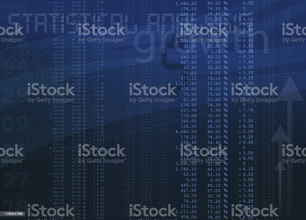 Statistical Analysis royalty-free stock photo