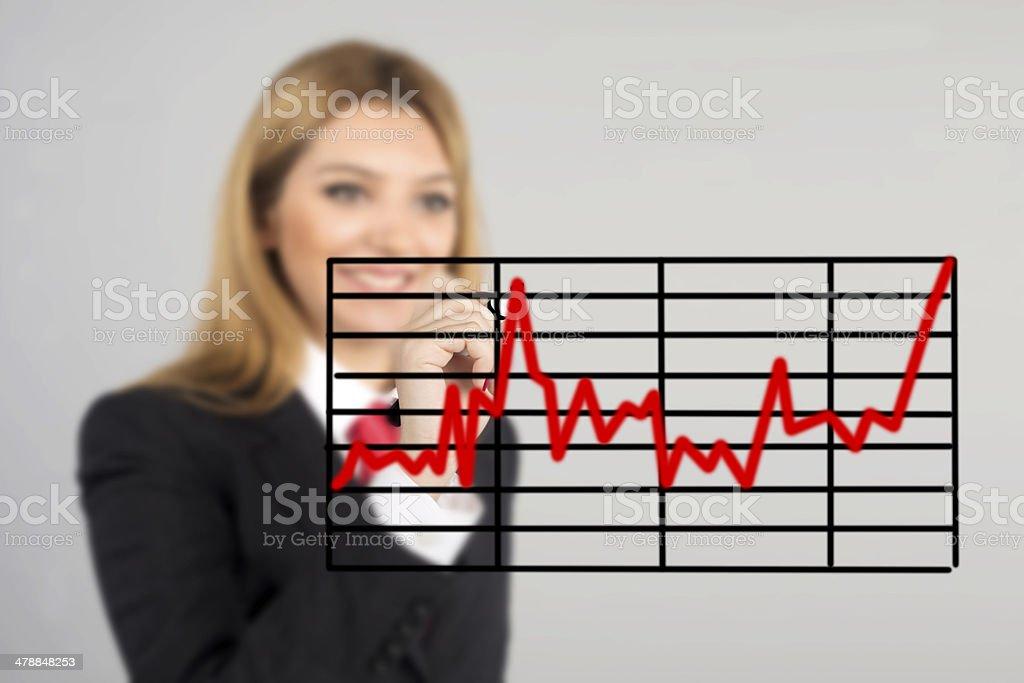 statistical data stock photo