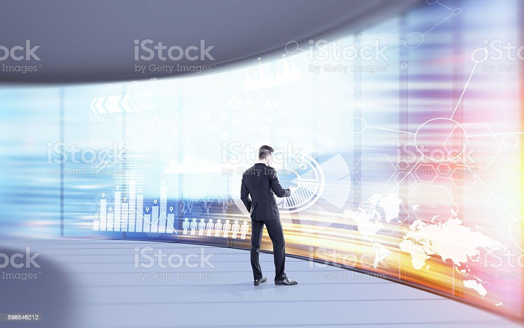 Statistician working stock photo