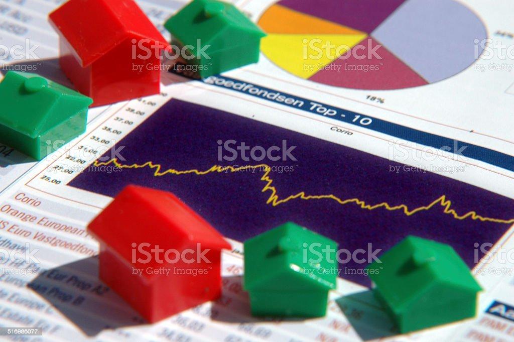 Statistics on the housing market stock photo