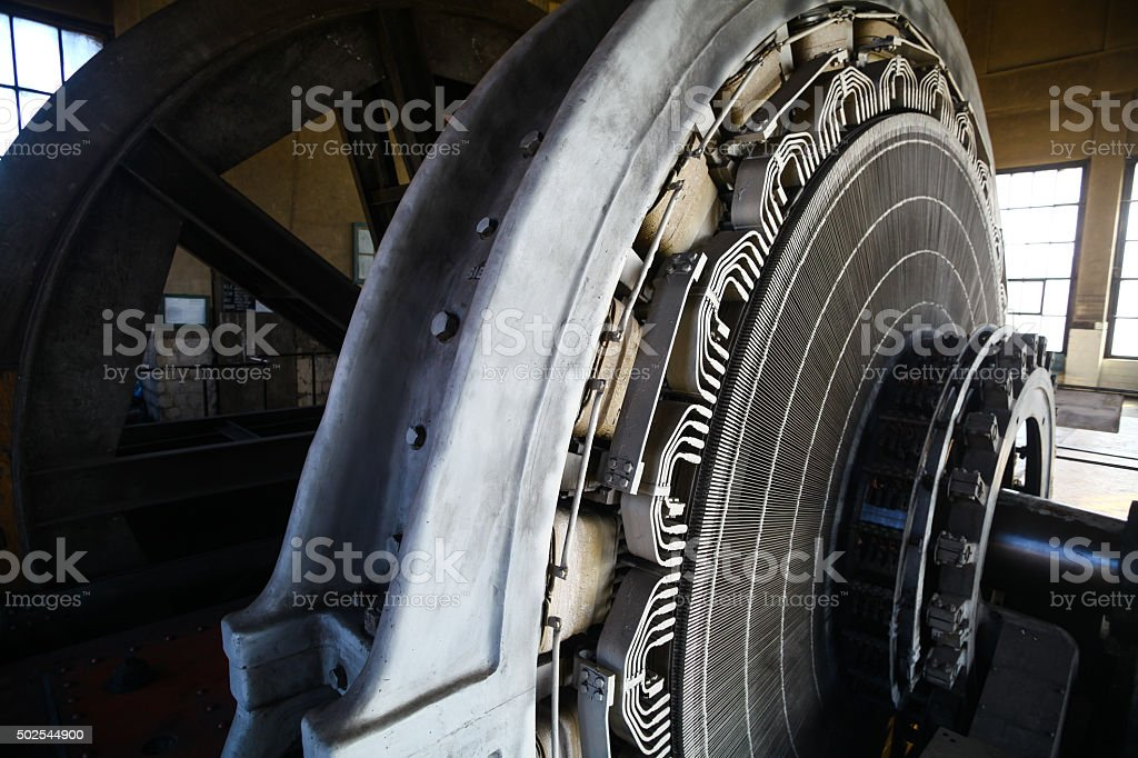 Stator in an electric motor stock photo