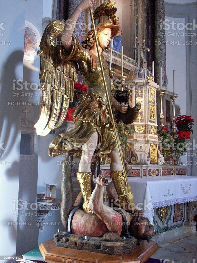 Statua di San Michele Arcangelo stock photo