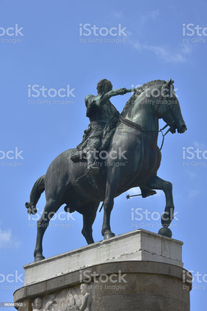 statua equestre del Gattamelata stock photo