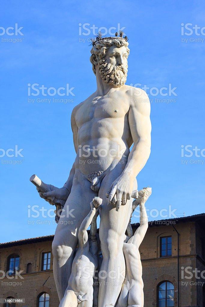 Statua of Nettuno -Florence Italy royalty-free stock photo