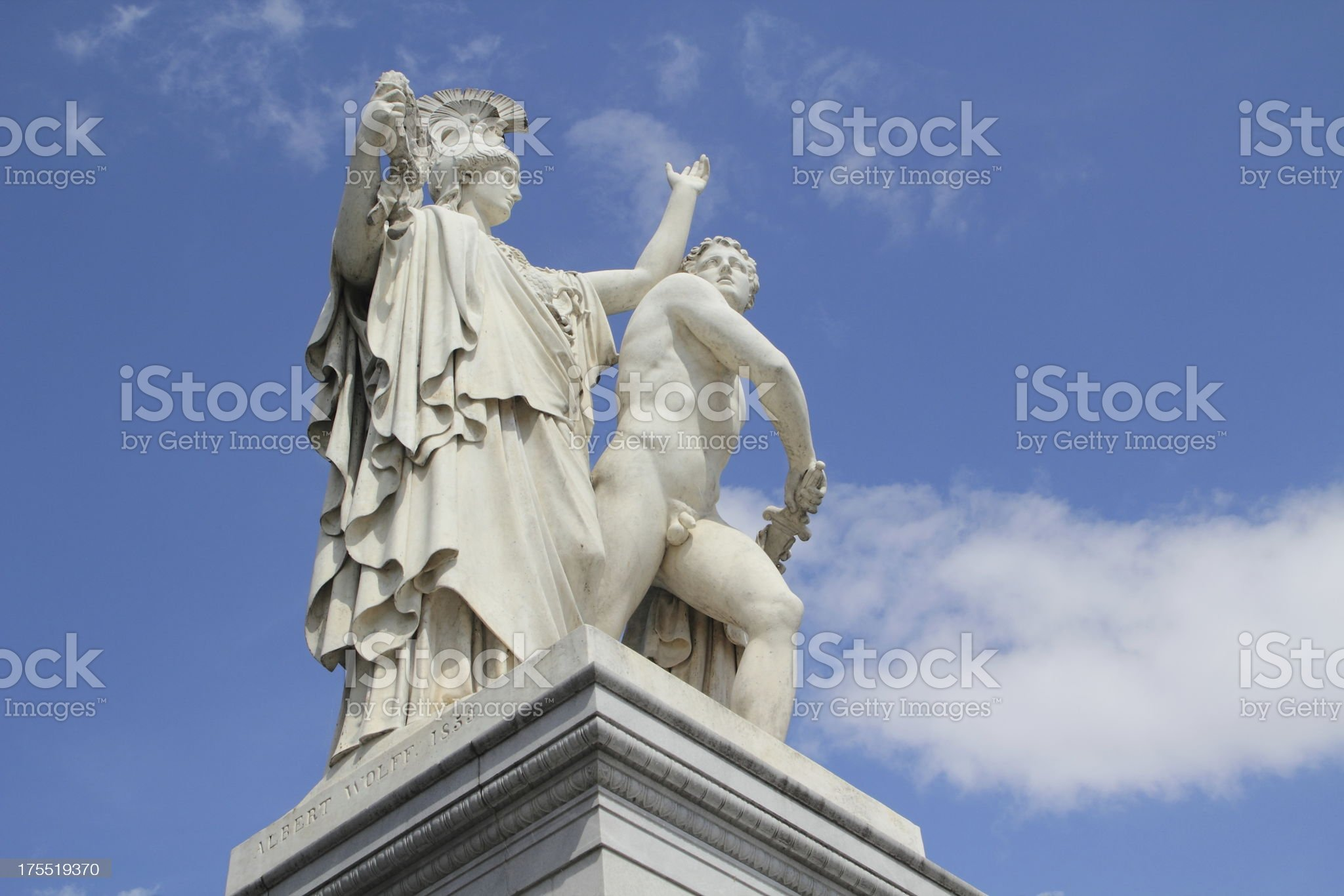 statue agains sky in berlin royalty-free stock photo