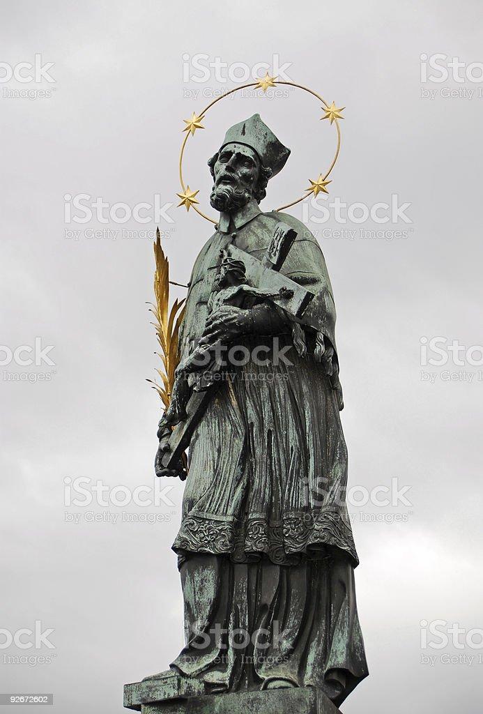 statue an der karlsbr?cke royalty-free stock photo