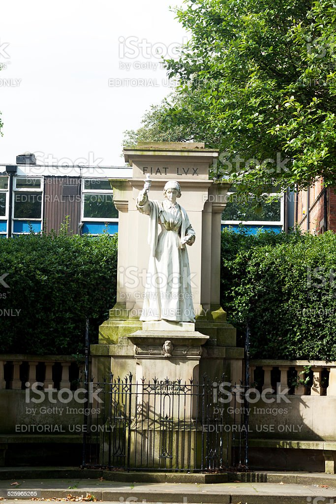 Statue and monument of Florence Nightingale stock photo