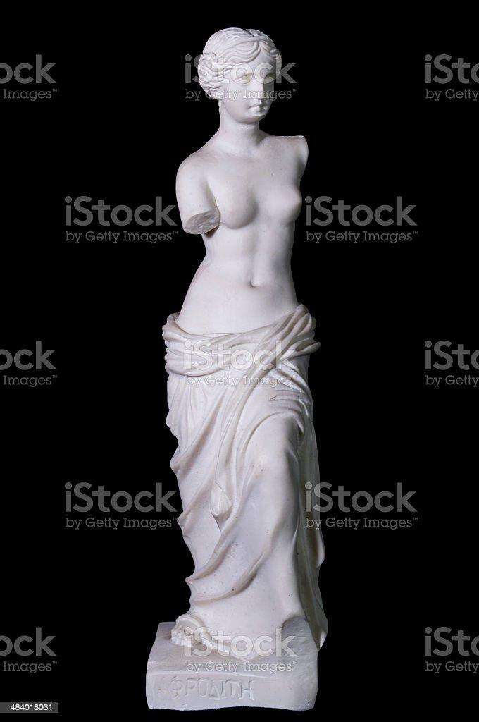 Statue 'Aphrodite of Milos' isolated stock photo