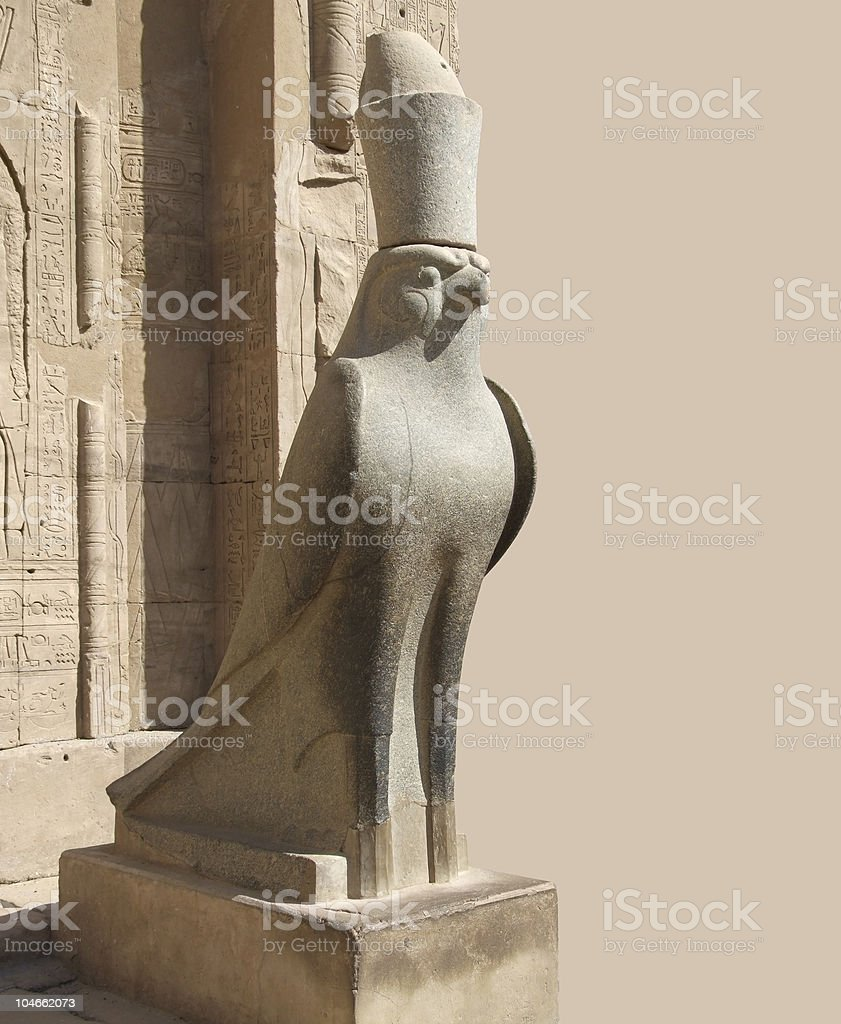 statue around Edfu Temple of Horus royalty-free stock photo