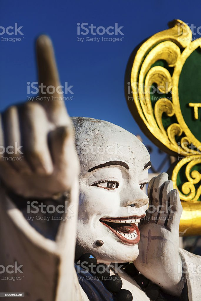 Statue at a Buddhist Temple in Burma (Myanmar) royalty-free stock photo
