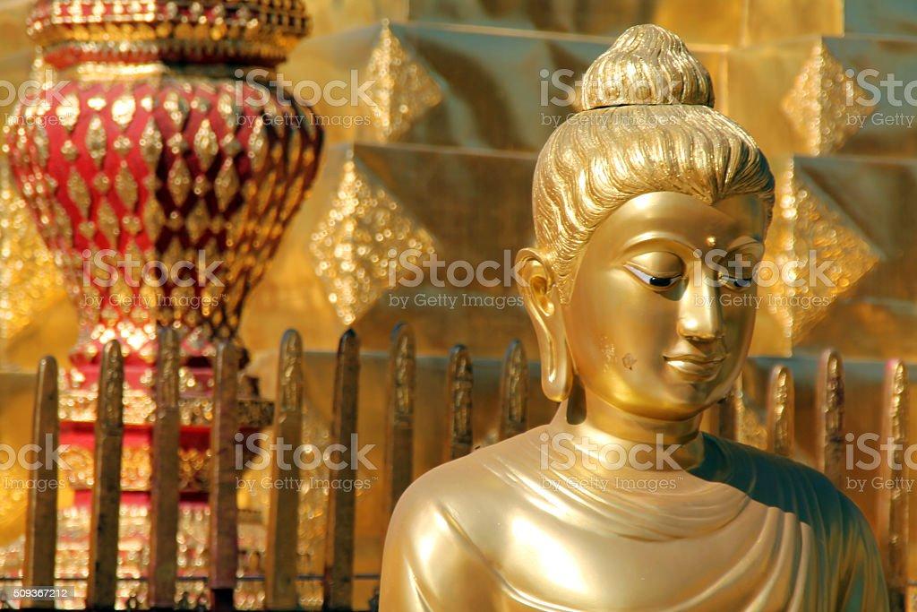 Statue de de Doi Suthep, Chiang Mai, Thaïlande photo libre de droits