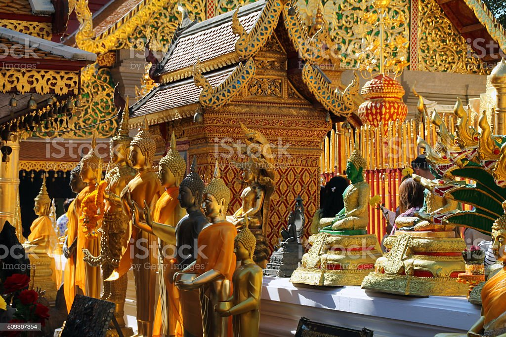 Statue de de Doi Suthep, Chiang Mai, Thaïlande photo libre de droits