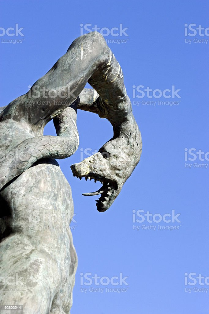 Statue at Drottningholm Palace in Stockholm stock photo