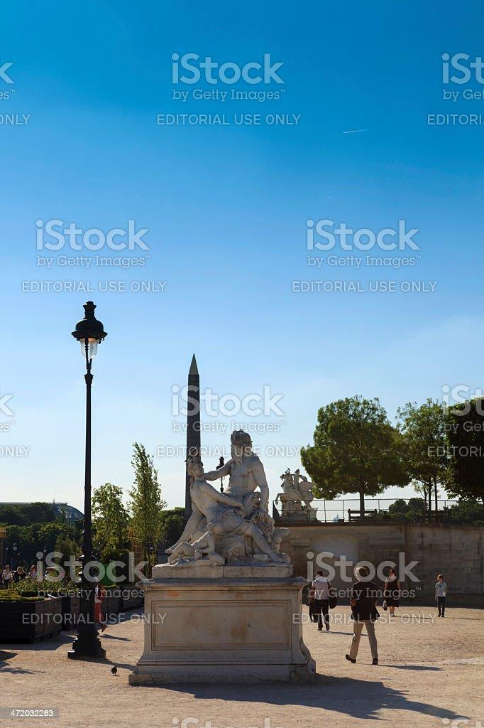 statue at Jardin des Tuileries stock photo