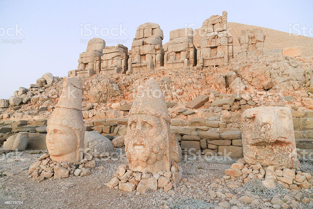 Statue at Mount Nemrut stock photo