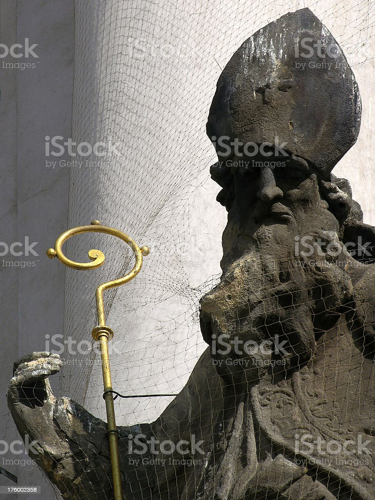 Statue at noon stock photo