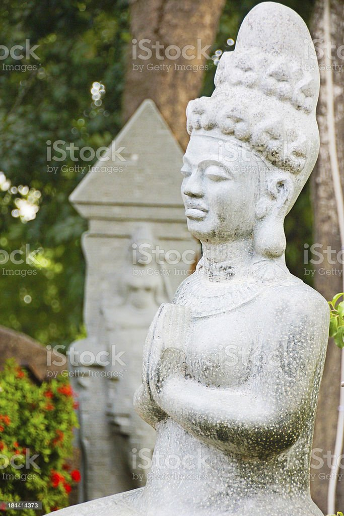 Statue at Po Nagar Hindu Cham temple in Vietnam stock photo