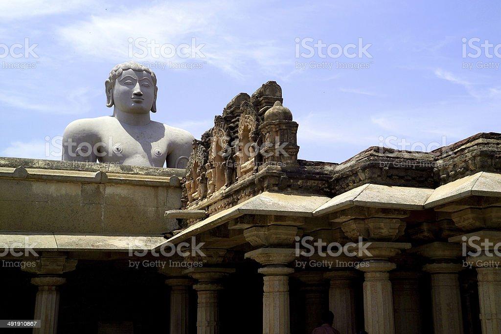 Statue at sravanabelagola, India stock photo