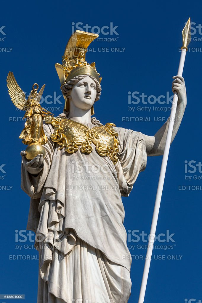 Statue at the Parliament Buildings - Vienna - Austria stock photo