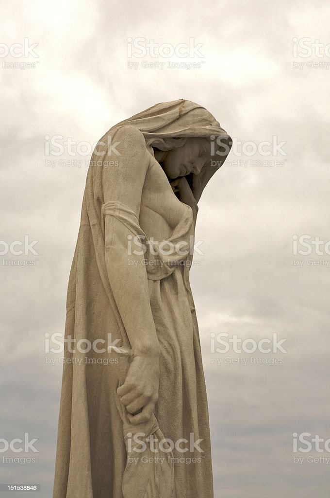 Statue at the Vimy Ridge War Memorial stock photo