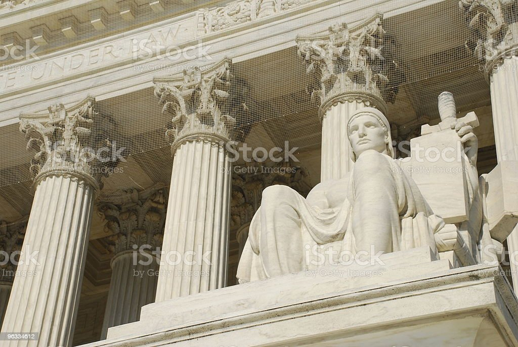 Statue at U.S. Supreme Court royalty-free stock photo