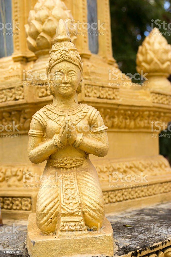 Statue, Battambang, Cambodia, South, East, Asia stock photo