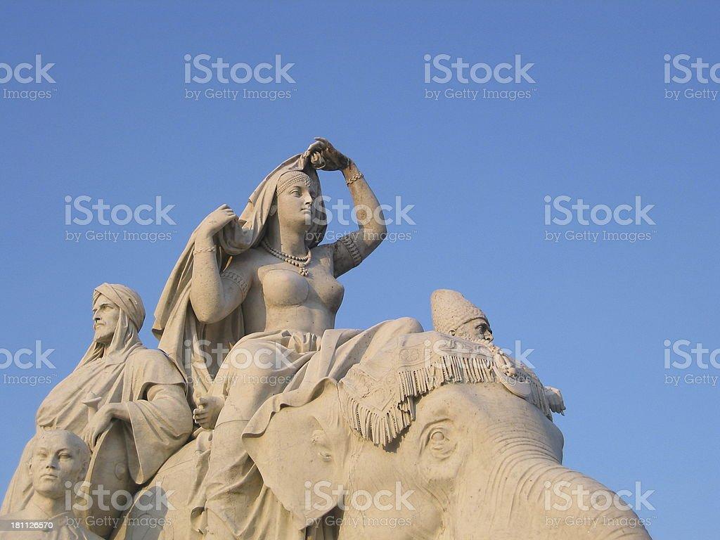 Statue - Busty Women royalty-free stock photo