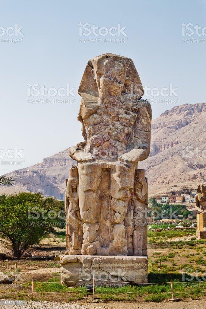 Statue Colossi of Memnon stock photo