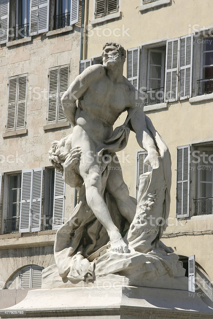 Statue cours Honore d'Estienne d'Orves in Marseille, France stock photo