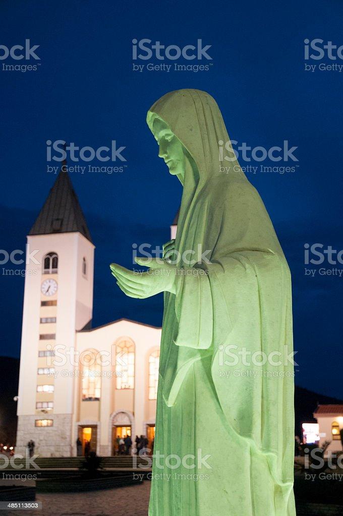 Statue de la Vierge Marie stock photo