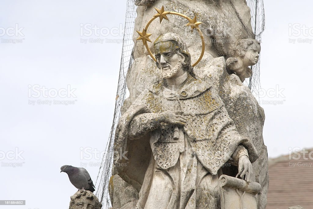 Statue de Saint Nepomuk stock photo