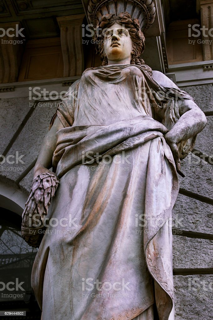 Statue detail from Andrassy street stock photo
