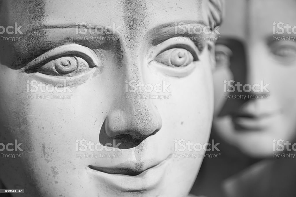 Statue Faces stock photo