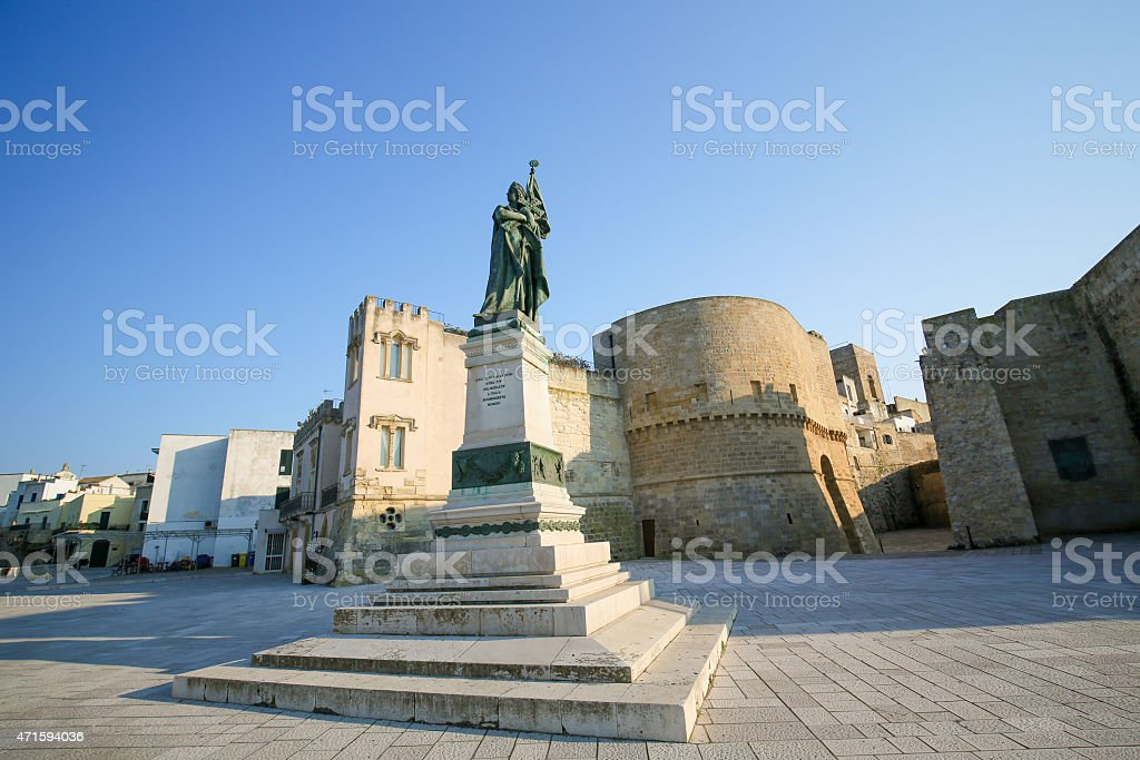 Statue for the heroes and martyrs of Otranto of 1480 stock photo