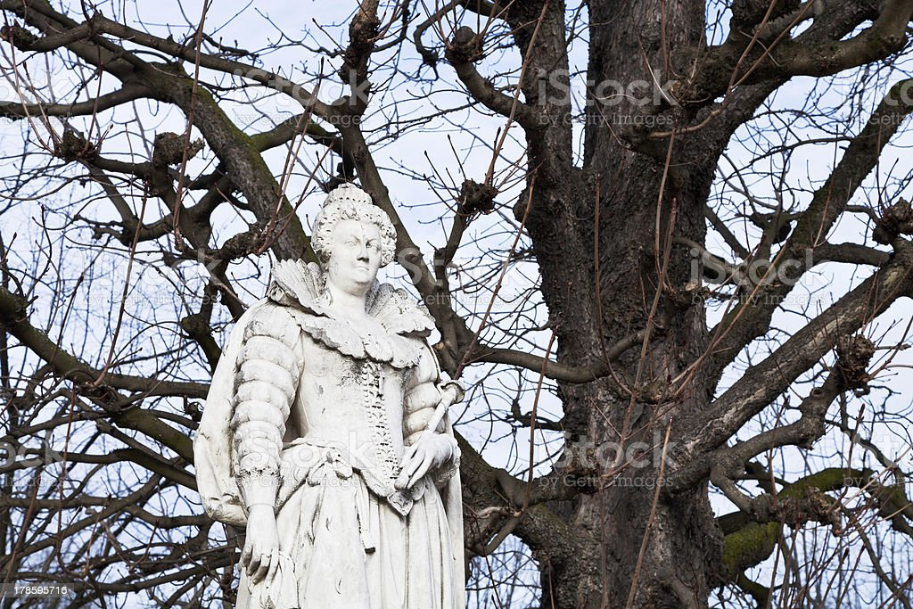 statue french queen in Paris royalty-free stock photo
