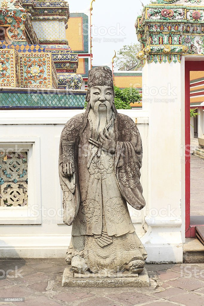 Statue from Wat Pho stock photo