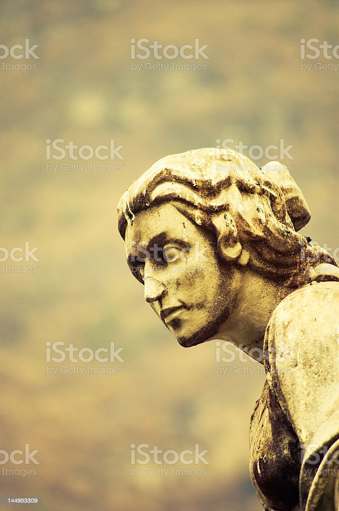 Statue head stock photo