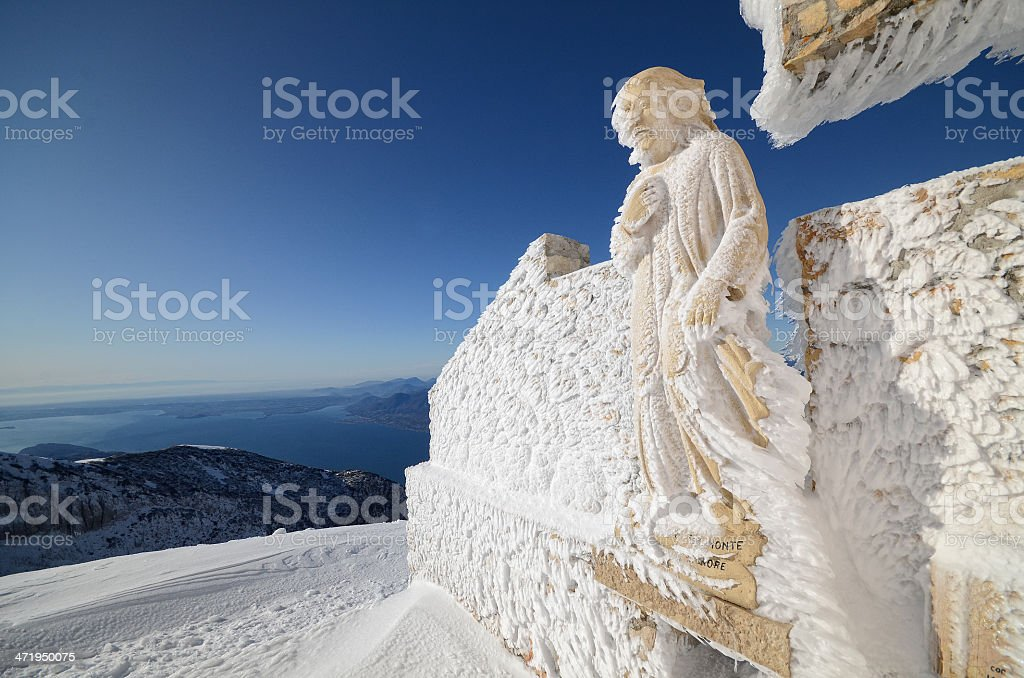 Statue ice stock photo