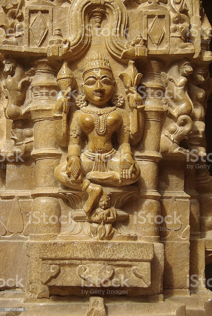Statue in a Jain temple royalty-free stock photo