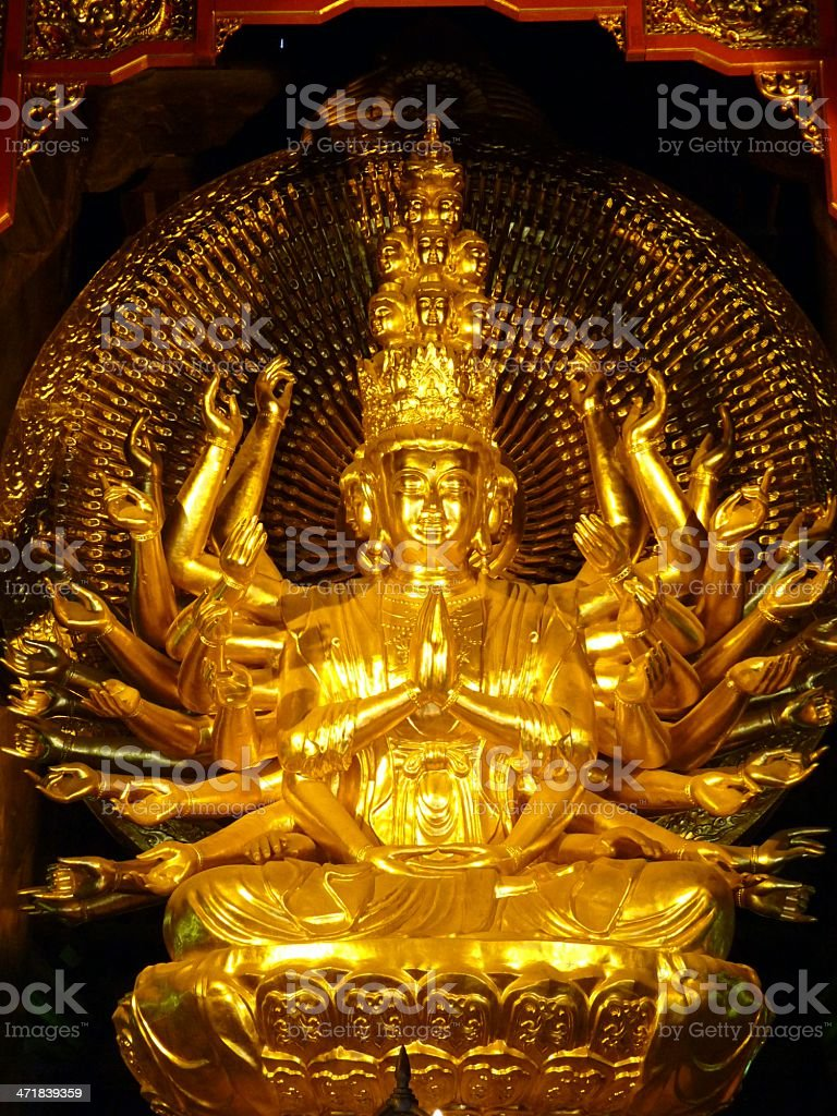 Statue in Bai Dinh temple royalty-free stock photo
