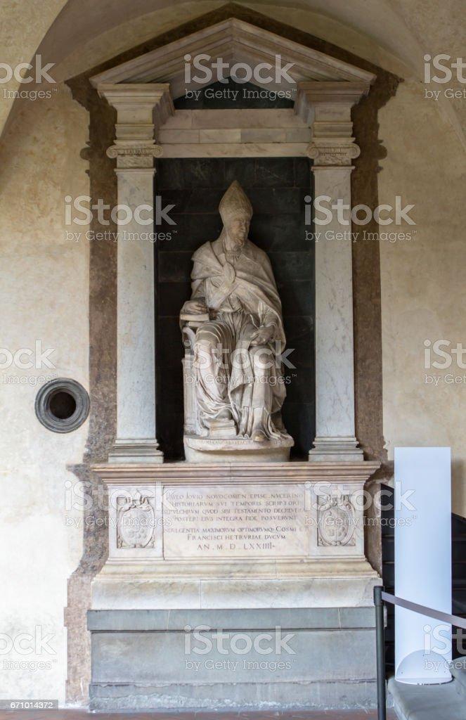 Statue in basilica San Miniato al monte, Florence, Italy stock photo
