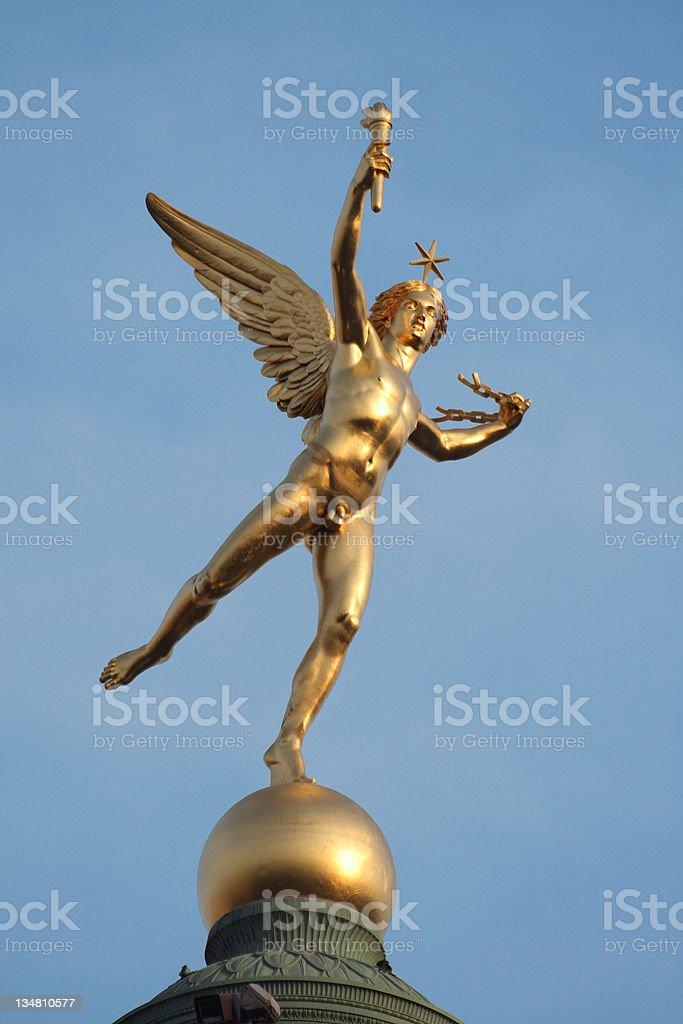 Statue in Bastille place, Paris stock photo