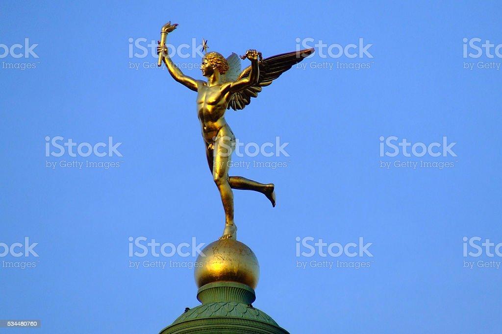 Statue in Bastille place-Paris, France stock photo
