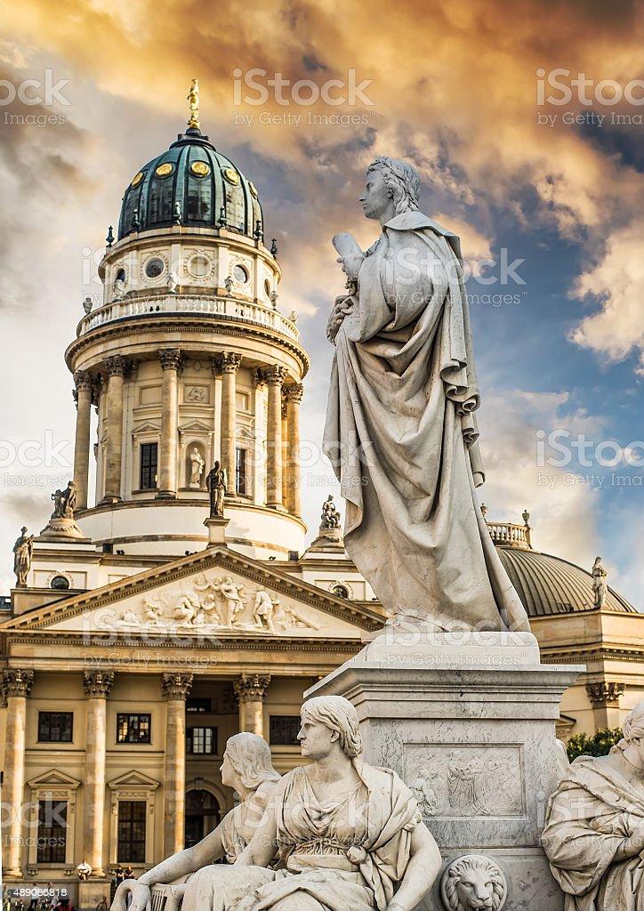 statue in Berlin stock photo