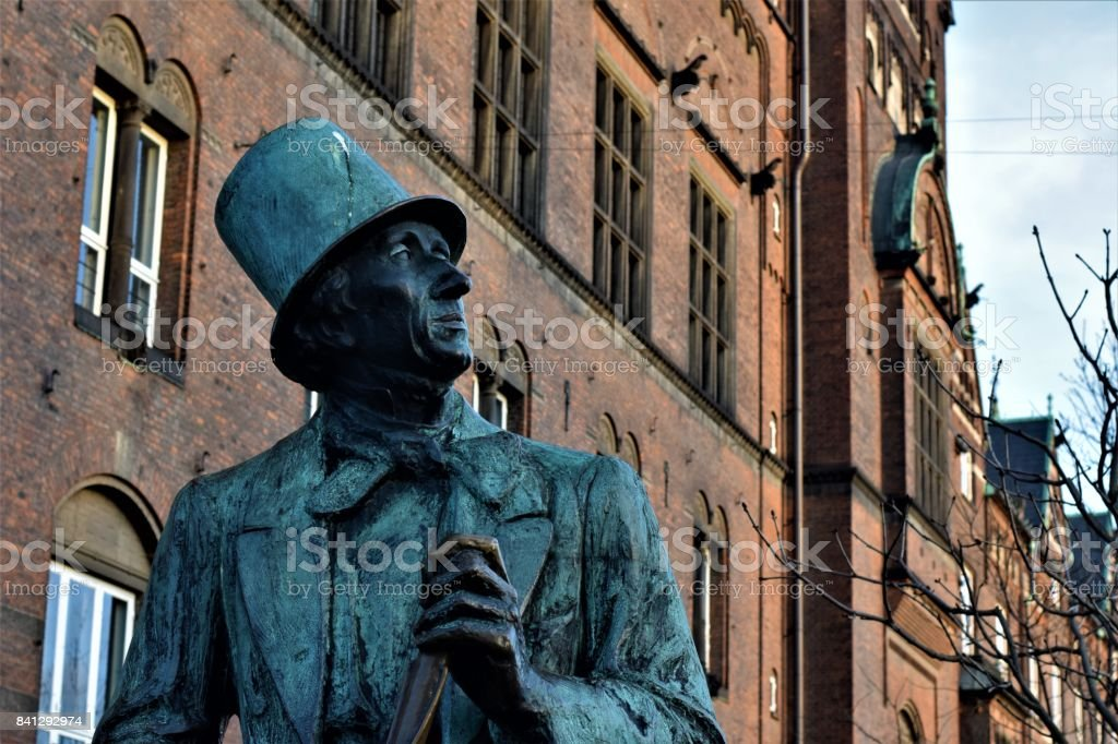 Statue in Copenhagen stock photo