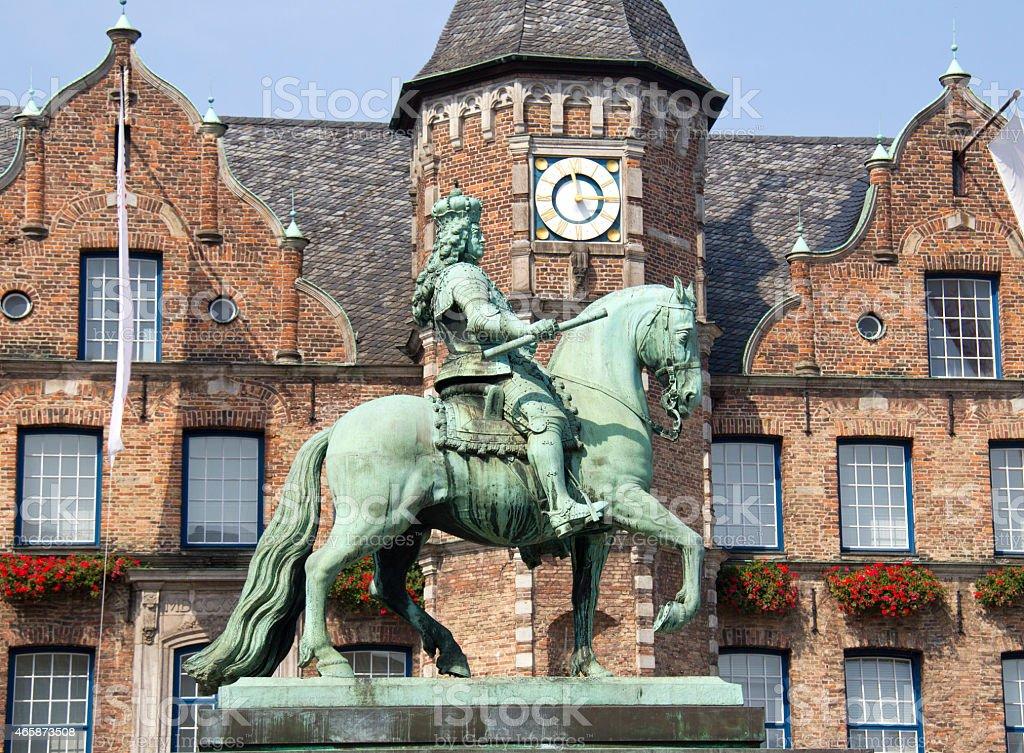 Statue in Dusseldorf stock photo